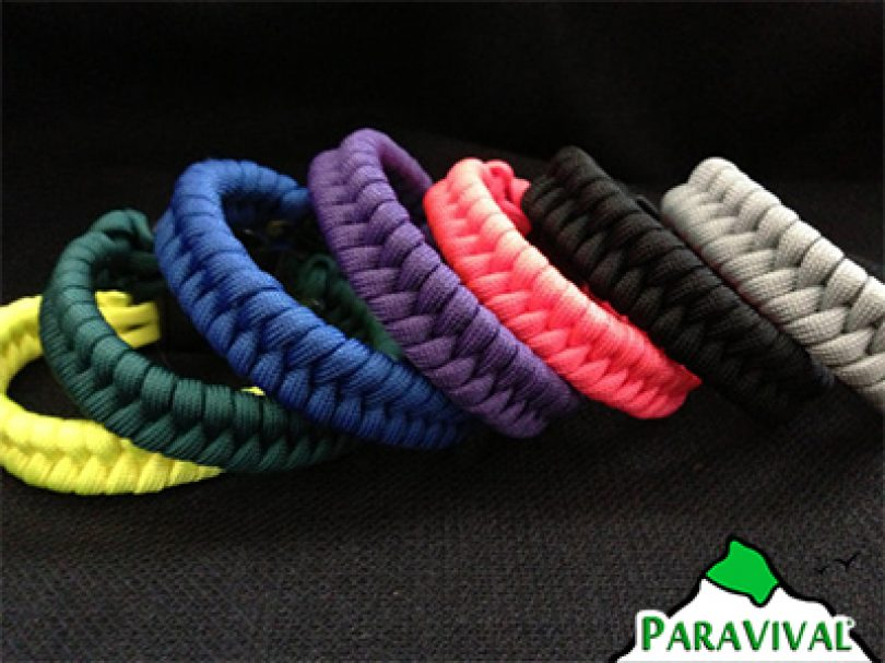 Paravival Custom Paracord Bracelet Fishtail Weave