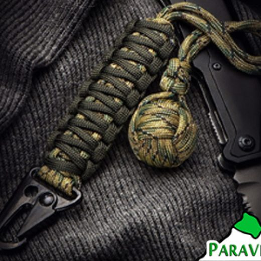 ParaVival.com - Monkey Fist Paracord Keychain with HK Hook