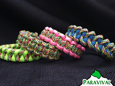 ParaVival.com Custom Paracord Bracelet Party Pattern