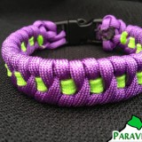 ParaVival.com Custom Paracord Bracelet Fishtail Weave with Stripe