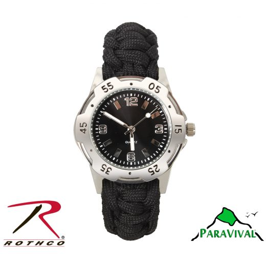 ParaVival.com Black Paracord Watch