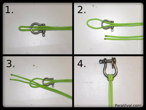 Cow Hitch Knot Tutorial Pic - ParaVival.com