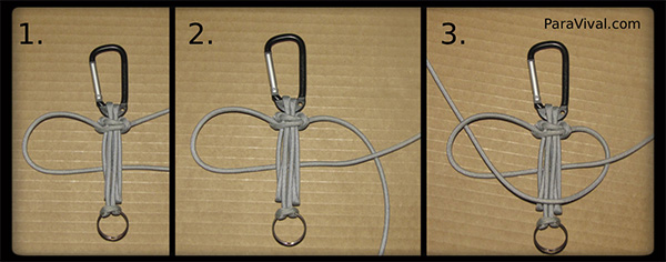 How To Make A Paracord Keychain Paravival