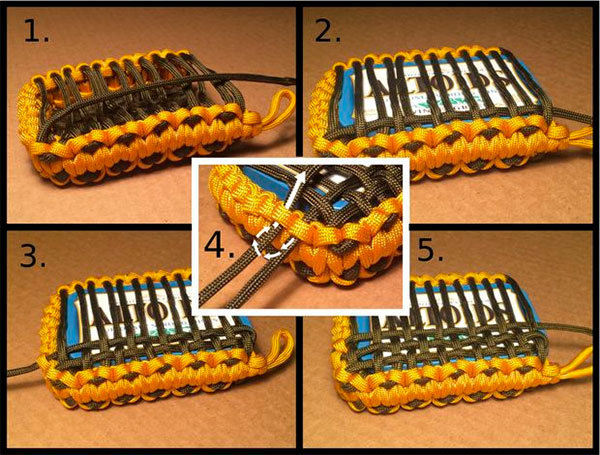 How to make a paracord pouch for survival a tin for Paracord case