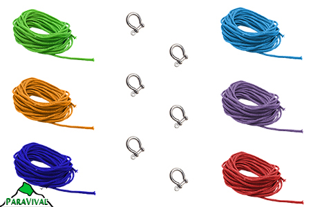 6 Shackle Paracord Kit - ParaVival.com